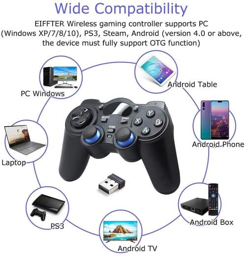 EIFFTER GC001 PC PS3 Wireless Game Controller