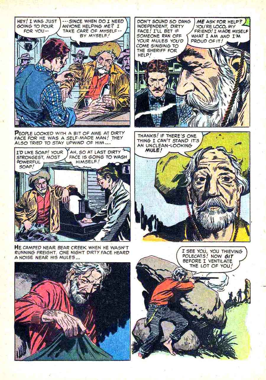 Gunsmoke v2 #11 golden silver age comic book page art by Al Williamson