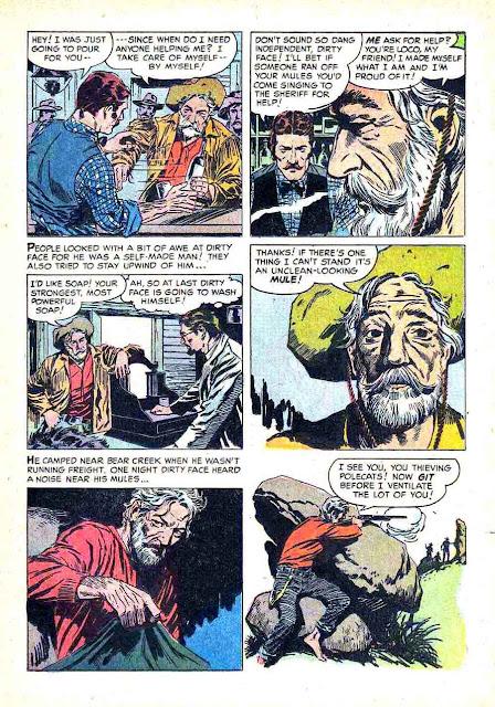 Gunsmoke v2 #11 golden silver age comic book page art by Al Williamson