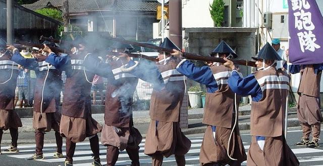 Teppo Matsuri (rifle shooting festival), Tanegashima Island, Kagoshima