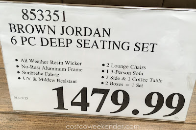 Deal for the Studio by Brown Jordan 6 Piece Deep Seating Set