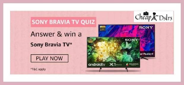 Amazon Sony Bravia TV Quiz Answers Win – Sony Bravia TV