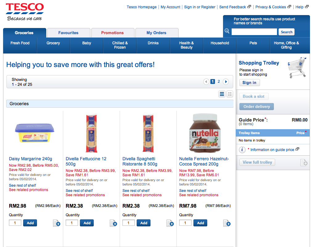Tesco online shopping review