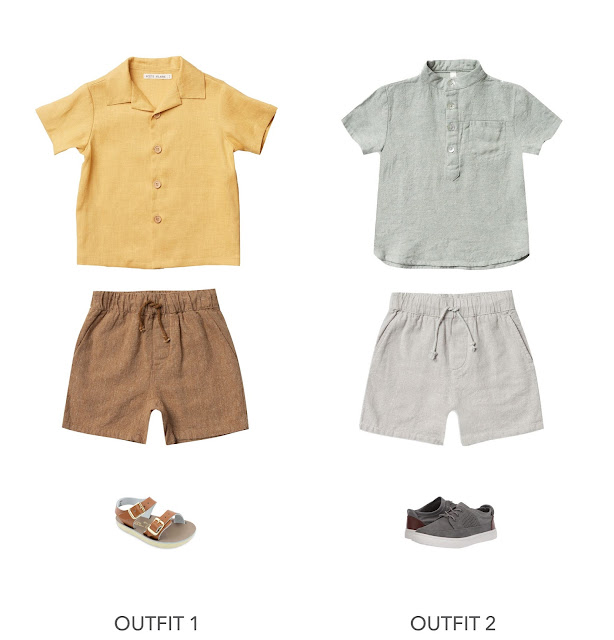 2 cute and trendy short sleeve boys Easter outfit ideas