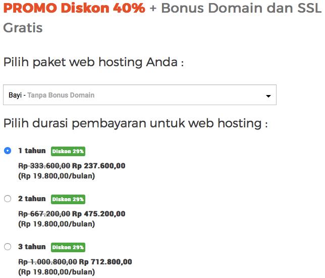 "Paket Web Hosting ""bayi"""