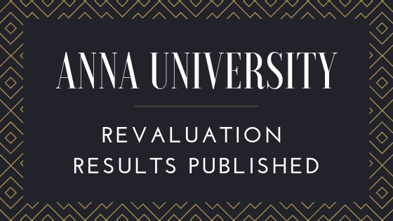 Anna University Revaluation Results phase-II published for Remaining Students