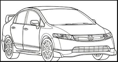 Gambar Sketsa Kendaraan