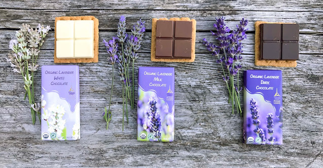 Organic Lavender Chocolate to make gourmet Lavender Chocolate S'mores