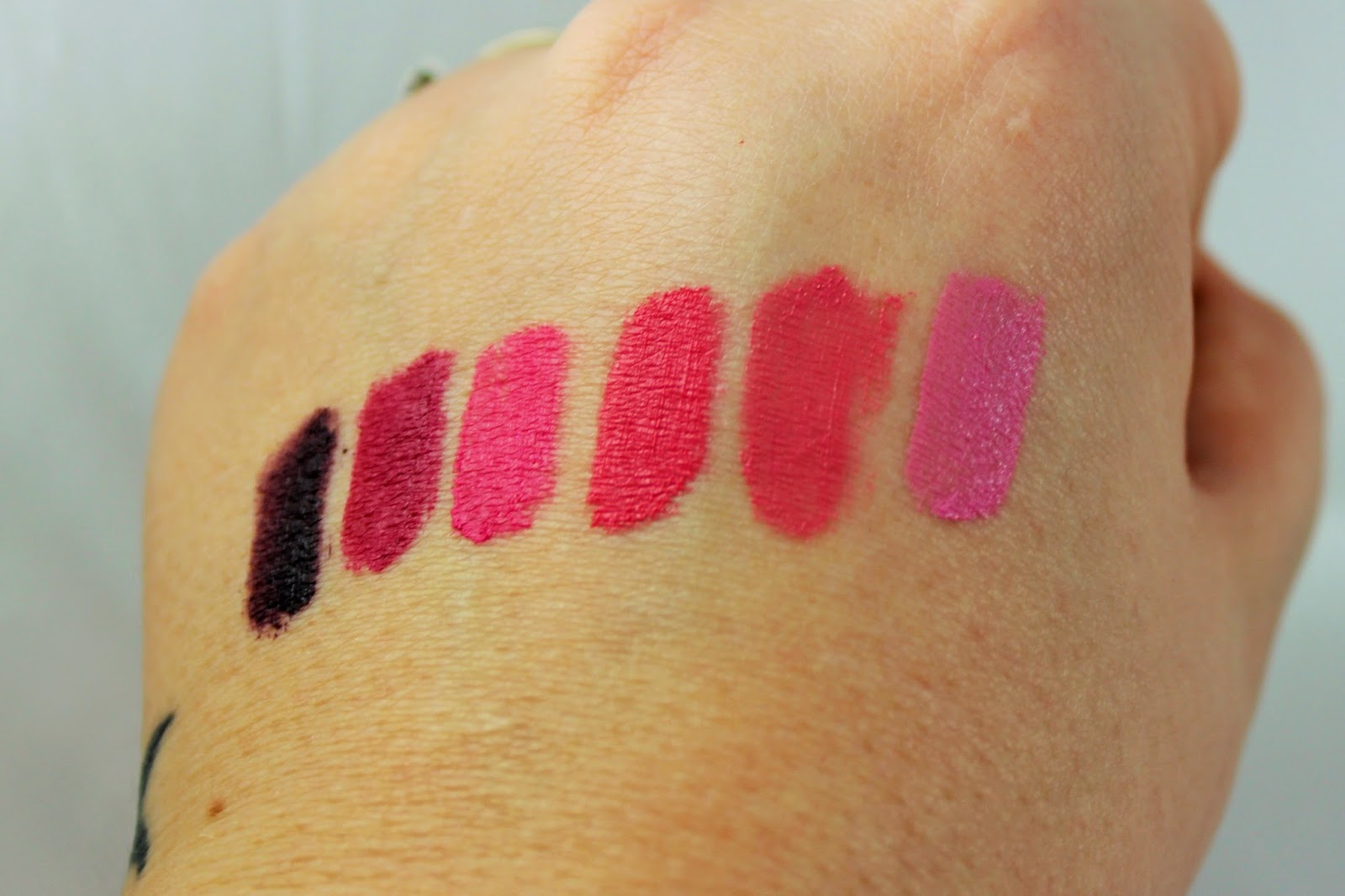 Nyx Matte Lip Cream Swatches Review