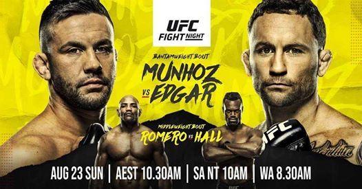 Watch UFC Fight Night Munhoz vs Edgar 8/22/2020 Online 22nd August 2020 Live