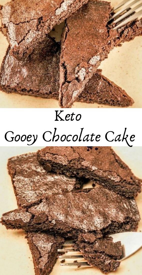Keto gooey chocolate cake #desserts #cakerecipe #chocolate