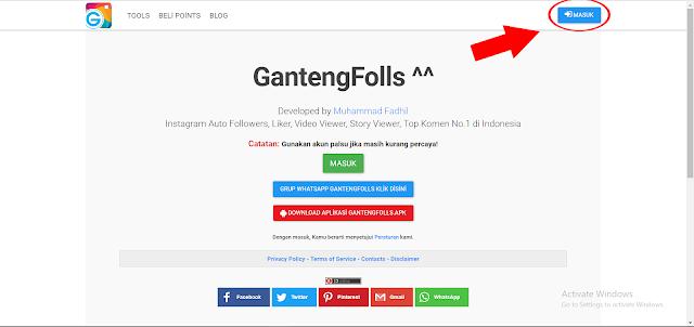 Cara menggunakan Gantengfolls.com