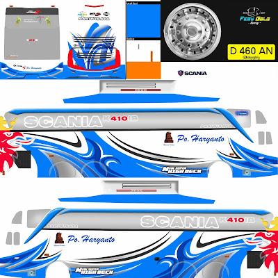 livery shd haryanto biru