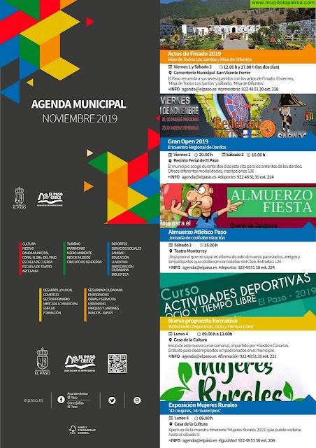Agenda Municipal para el mes de noviembre 2019 en El Paso