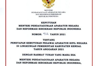 Formasi CPNS & PPPK Kabupaten Kendal Tahun 2021
