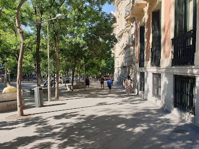 Una mañana de sábado en Madrid, en Alonso Martínez