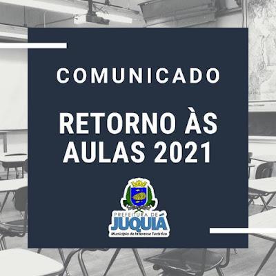 SECRETARIA DE EDUCAÇÃO DE JUQUIÁ CONFIRMA AULAS PRESENCIAIS NA REDE MUNICIPAL SÓ EM 2021