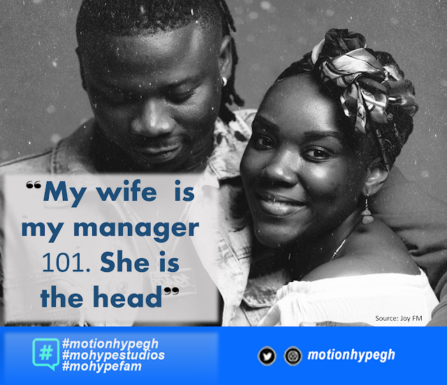 Stonebwoy Extols Wife, Calls Her 'The Manager' and 'The Head'