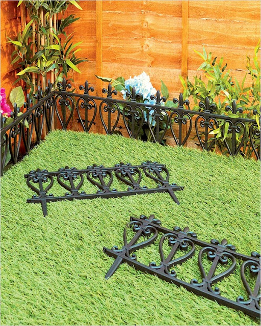 flexible metal garden edging fence UK