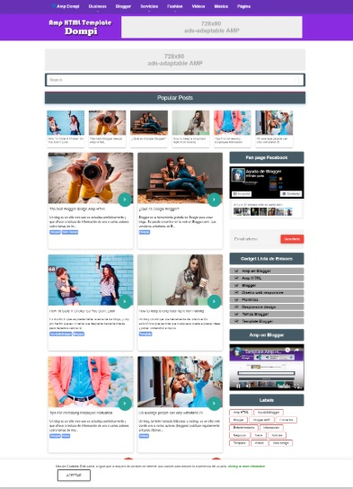 AMP Blogger Template Free AMP Dompi