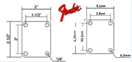 neck plate pin up custom shop chrome guitar et bass ebay. Black Bedroom Furniture Sets. Home Design Ideas