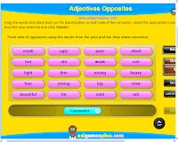 Resultado de imagen de Adjectives Opposites ESL Matching Game :