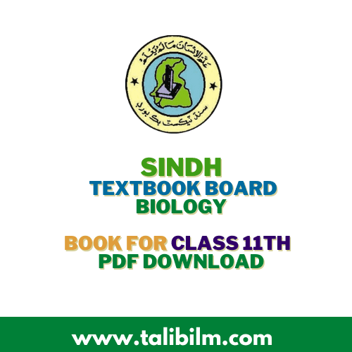 Sindh Textbook Board Biology Book For class 11th