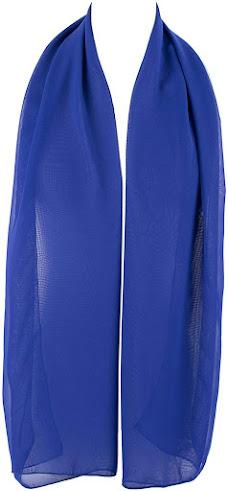 Plain Blue Chiffon Scarves Shawls