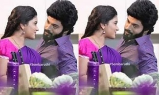 Sembaruthi Serial Kitchen Romantic Scene Today Cute Shooting Spot Still