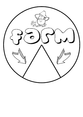 Art Projects For Kids: farm animal spinner