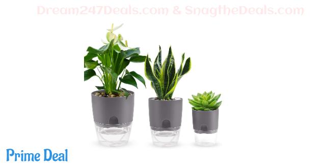 35%OFF Succulents Planter Pot,Cactus Plant Pot,Flower Pot, Green Plant Container,Multi-Size Plant Pot of Visual Modern Round Plastic Pots
