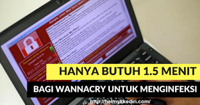 Tanda Komputer Terinfeksi Ransomware WannaCry