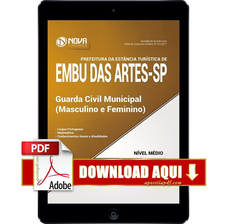 Apostila Prefeitura de Embu das Artes SP 2017 Guarda Municipal PDF Download