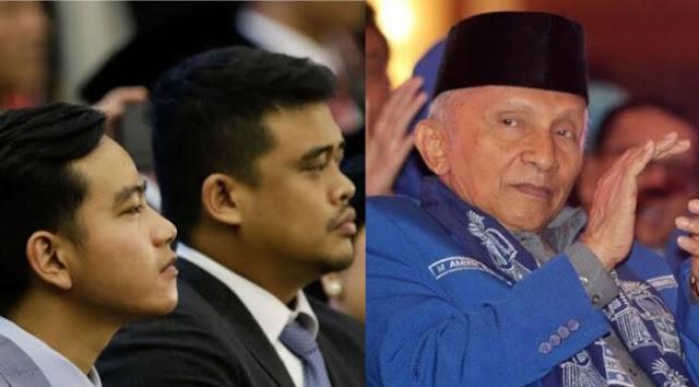 Bicara Nepotisme, Amien Rais Seret Anak-Mantu Jokowi: Luar Biasa Gak Ketulungan