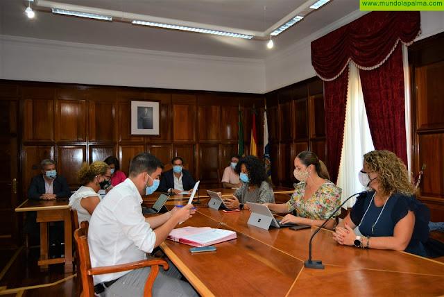 El Consejo de Gobierno Insular se traslada a Garafía tras el incendio forestal para apoyar al municipio