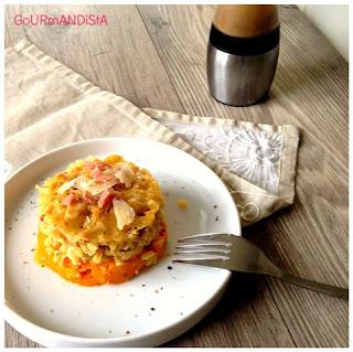 image Gratin de butternut au blé, bacon et parmesan