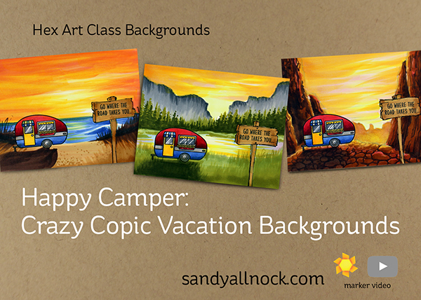 Sunny Studio Stamps: Happy Camper Customer Card by Sandy Allnock