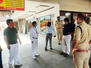 कलेक्टर एवं पुलिस अधीक्षक ने किया रेल्वे स्टेशन का औचक निरीक्षण