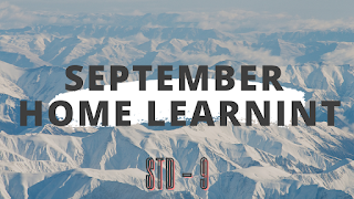 Home learning pdf of std 9, september month