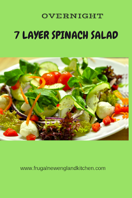 Overnight 7 Layer Spinach Salad