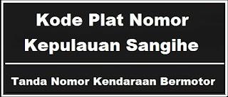 Kode Plat Nomor Kendaraan Kepulauan Sangihe