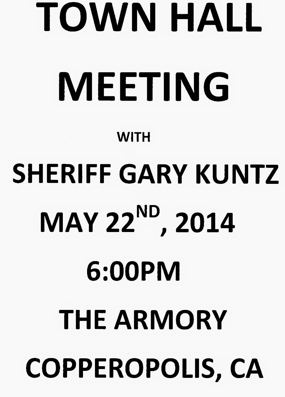 Copper Gazette: Town Hall Meeting with Sheriff Gary Kuntz