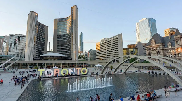 the Nathan Phillips Square