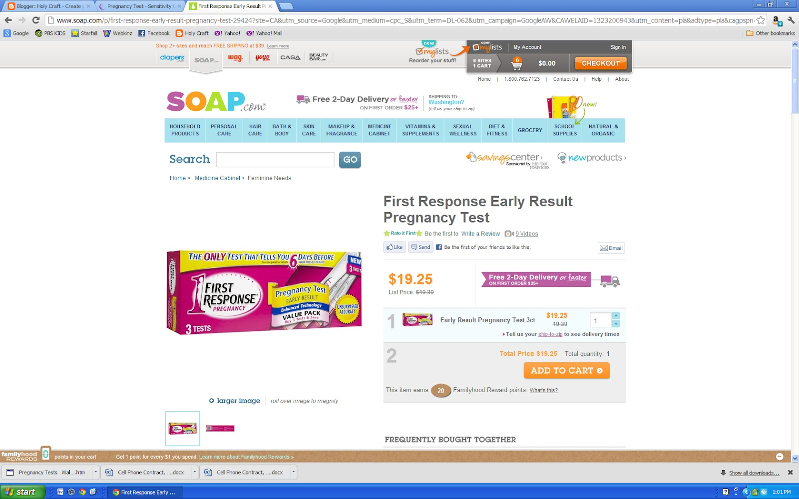 Should you buy a Dollar Store pregnancy test? | <datFeata:blog title