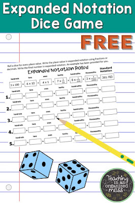 Expanded Notation Math Station