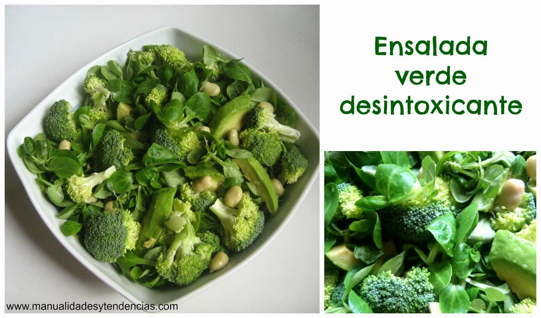 Ensalada verde desintoxicante y depurativa