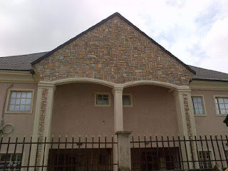 cobble stone done on a building top