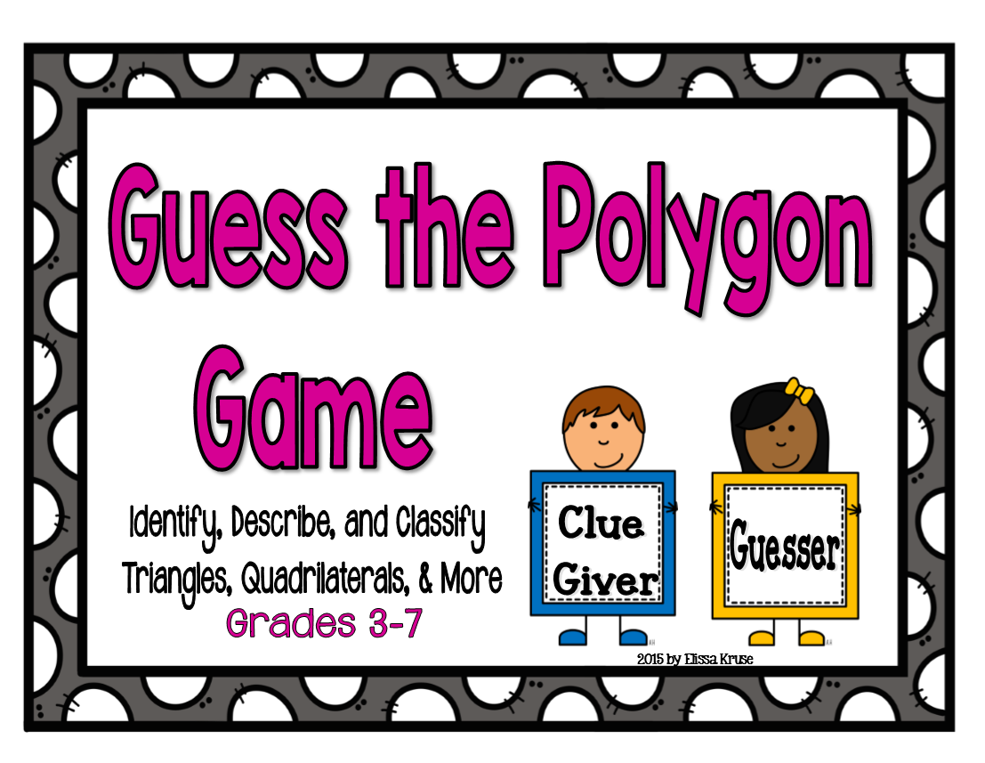 Fifth Grade Is Fab Polygon Game Foryzing Identifying And Classifying Polygons