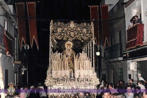 Horario e Itinerario Procesión Triunfal Nuestra Señora de los Dolores en su Soledad. Alcalá del Río (Sevilla) 31 de Octubre del 2021