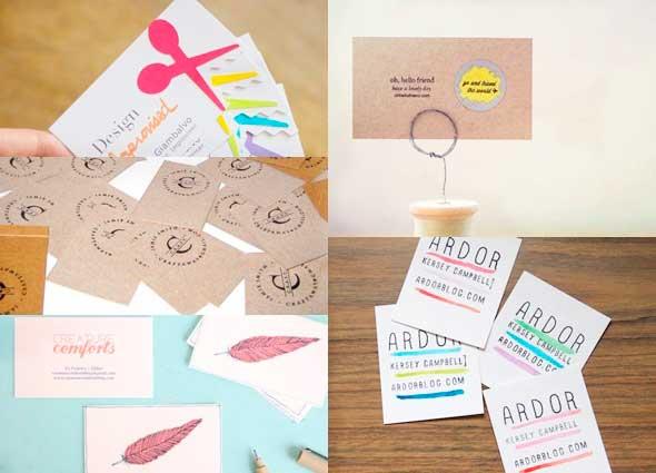 tarjetas de visitas, tarjetas, creativas, diys, contactos
